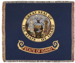 Idaho State Flag Tapestry Throw