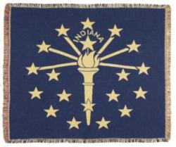 Indiana State Flag Tapestry Throw