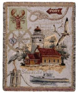 A Port Tapestry Throw