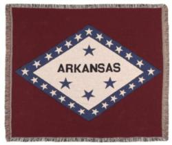 Arkansas State Flag Tapestry Throw