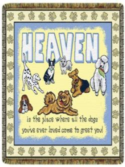 NEW Heaven Is ... Dogs Tapestry Throw