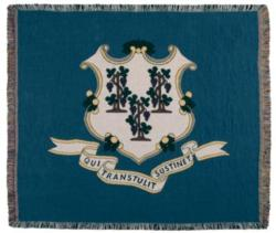 Connecticut State Flag Tapestry Throw