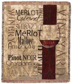 Vineyards & Wineries Tapestry Throw
