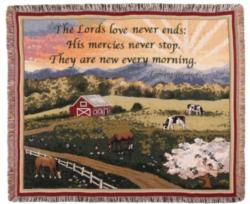 Mercies Never Stop Tapestry Throw