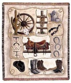 Saddle Up Tapestry Throw