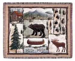 Cabin Fever Tapestry Throw