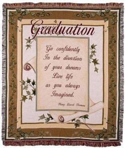SALE Graduation Live Life Tapestry Blanket