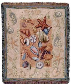 Seashell Collection Tapestry Throw
