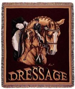 SALE Dressage Horse Tapestry Throw
