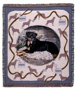 Pedigree Rottweiler Tapestry Throw