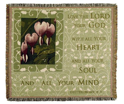 Love The Lord, Deuteronomy 6:5 Throw Blanket