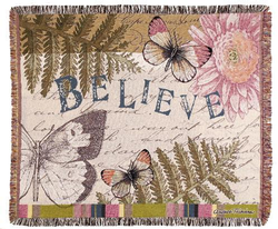 Believe Tapestry Throw