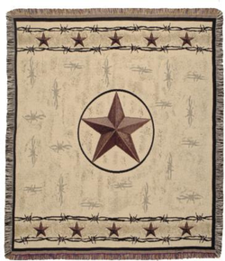 Texas Star Tapestry Throw