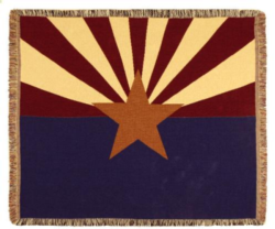 Arizona State Flag Tapestry Throw
