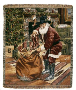 Santa Boots Tapestry Throw