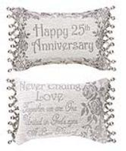 25th Anniversary Reversible Tapestry Word Pillow