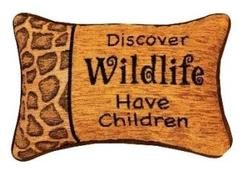 Discover Wildlife Tapestry Word Pillow