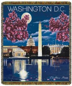 NEW Washington DC Tapestry Throw