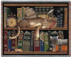 Remington the Well Read Tapestry Throw