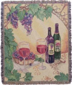 Wine Cellar Tapestry Throw