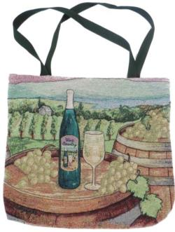 Wine Country Tapestry Tote