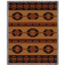 Adobe Tan Tapestry Throw