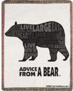 Advice from a Bear Tapestry Throw