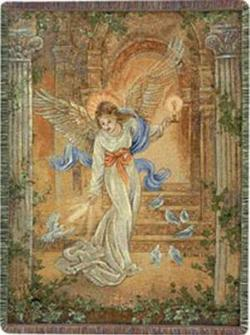 Angel of Light Tapestry Throw