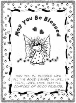 May You Be Blessed Throw Blanket