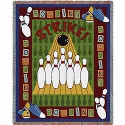 It's A Strike Bowling Tapestry Throw