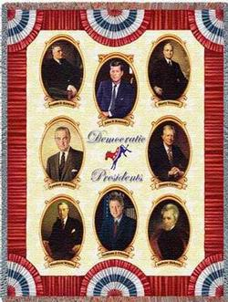 Great Democratic Presidents Tapestry Throw Blanket