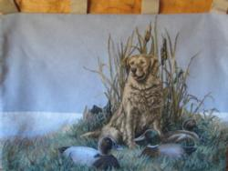SALE Dog and His Ducks Tapestry Wall Hanging