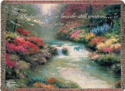 Beside Still Waters, Psalm 23 Tapestry Throw