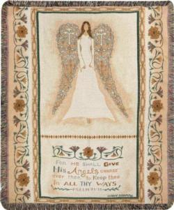 In All Thy Ways, Psalm 91:11 Tapestry Throw