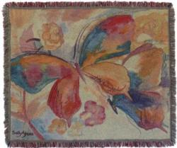 2017 Gold Series Butterflies Tapestry Throw