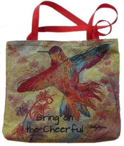 Bring on the Cheerful Hummingbird 2017 Golden Series Tapestry Tote