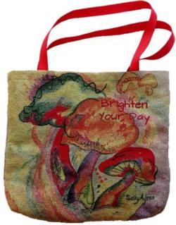 Brighten Your Day Mushrooms 2017 Golden Series Tapestry Tote