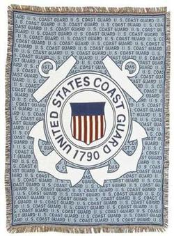 US Coast Guard Tapestry Throw Blanket