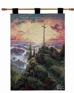 Sunrise John 11:25 Tapestry Wall Hanging