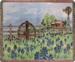 Bluebonnets Beauty Tapestry Throw
