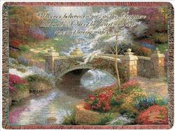 Bridge of Hope, John 7:38 Tapestry Throw