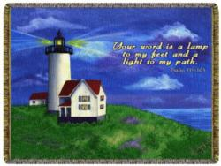 Exclusive Psalm 119:105 Lighthouse Tapestry Throw