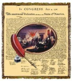 Declaration of Independence Tapestry Throw Blanket