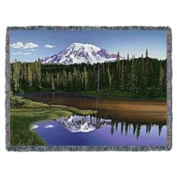 A Majestic Slumber at Mt. Rainier Tapestry Throw
