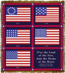 History of Flags Tapestry Throw Blanket