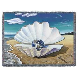 Mother of Pearl Tapestry Throw