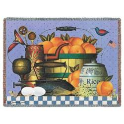 Peaches Tapestry Throw