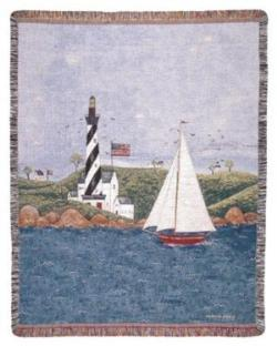 Coastal Breeze Tapestry Throw