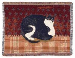 Fat Cat Tapestry Throw