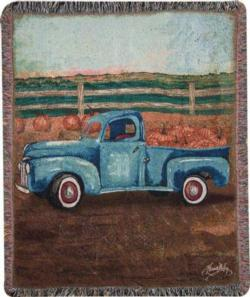 NEW Truck and Barn Tapestry Throw